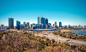 Perth Skyline from Kings Park in February, 2011.