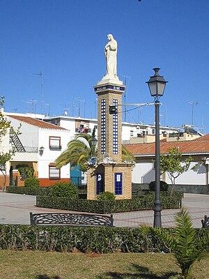 Plaza en Alcalá de Guadaíra, Sevilla, España.