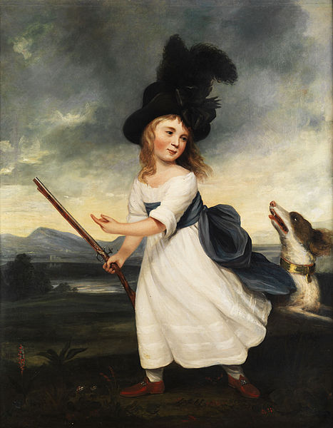 File:Portrait of a girl with gun and hound.jpg