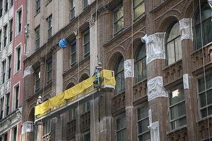 Deutsch: Fassadenrenovierung in Chicago Englis...