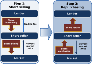 Schematic representation of short selling in t...