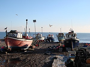 English: Surviving fishing community in Beer