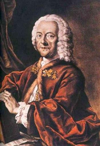Georg Philipp Telemann (1681-1767), coloured a...
