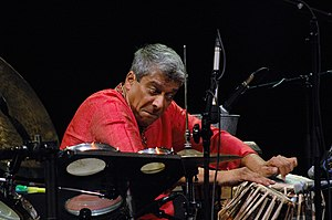 (Indian percussion player Trilok Gurtu in Warsaawa 2007... wikipedia.org)