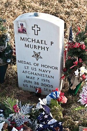 Grave of Lt. Michael P. Murphy, U.S. Navy, Con...