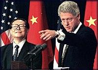 Jiang Zemin dan Bill Clinton