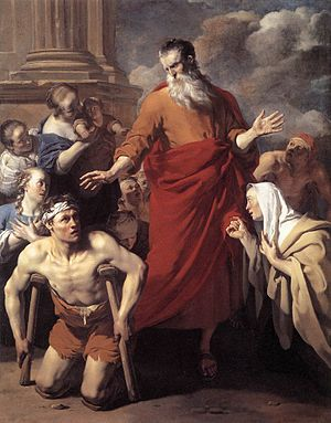 St. Paul healing the cripple at Lystra