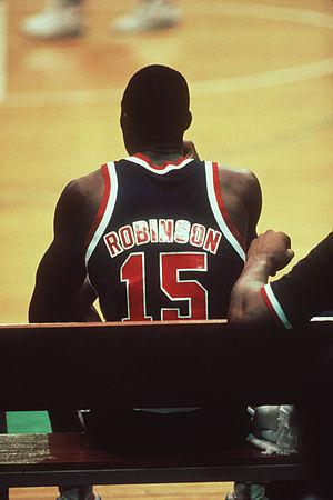 David Robinson of the US Olympic men's basketb...