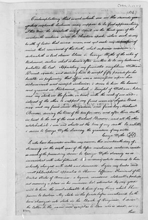English: The last will and testament of George...