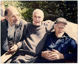 Allen Ginsberg, Timothy Leary, and John C. Lilly in 1991