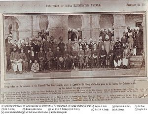 English: Group photo, taken at Quetta of Sir H...