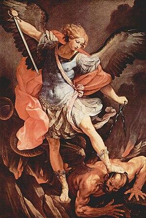 Guido Reni's archangel Michael (Capuchin churc...