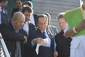 Français : Venue François Hollande à Rennes le...