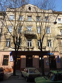 Casa de Leópolis en la que vivió Stanisław Lem.