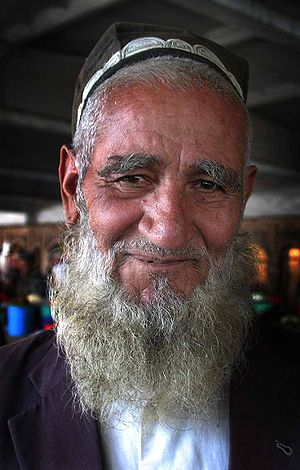 An old man from Tajikistan.
