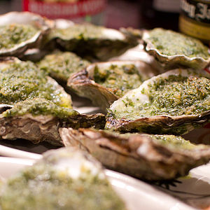 English: Oysters Rockefeller
