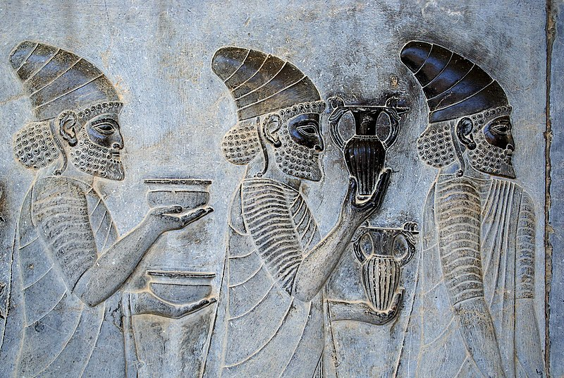 File:Persepolis stairs of the Apadana relief.jpg