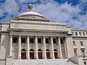 El Capitolio, hogar del Senado y la Cámara de Representantes en San Juan de Puerto Rico.