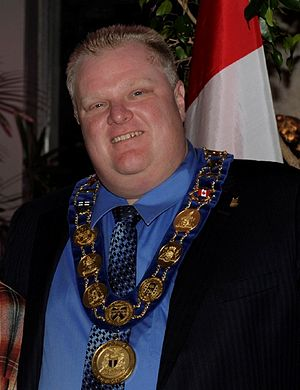 Mayor Rob Ford on January 1, 2011, wearing the...