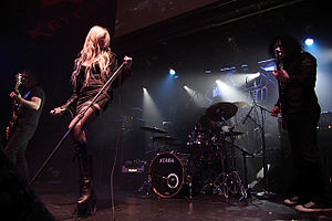 The Pretty Reckless in concert at the Warped T...