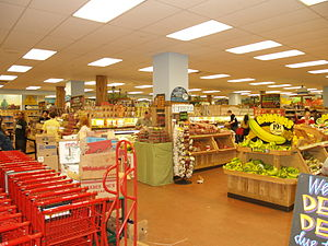 Trader Joe's interior in Union Square in New Y...