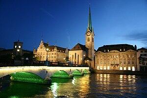 Zurich city in the night