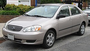 2003-2004 Toyota Corolla photographed in Colle...