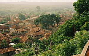 View of Abeokuta, Ogun State, Nigeria from the...
