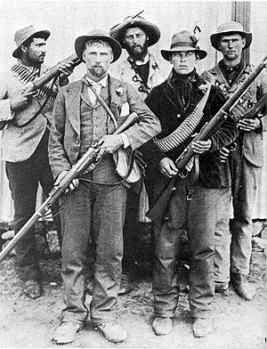 English: Boer guerrillas during the Second Boe...