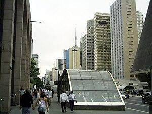 Paulista Avenue in São Paulo City.