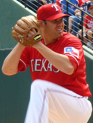 English: Colby Lewis, Texas Rangers pitcher.