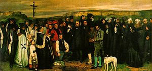 English: Burial at Ornans by Gustave Courbet (...