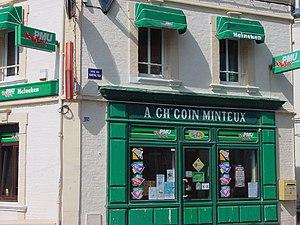 enseigne de café en picard, Cayeux-sur-mer (Somme)