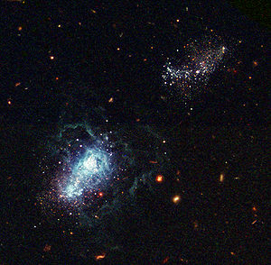 Hubble - infant galaxy