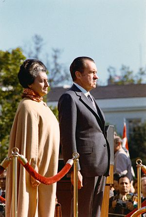 Richard Nixon and Indira Gandhi, 4 November 1971