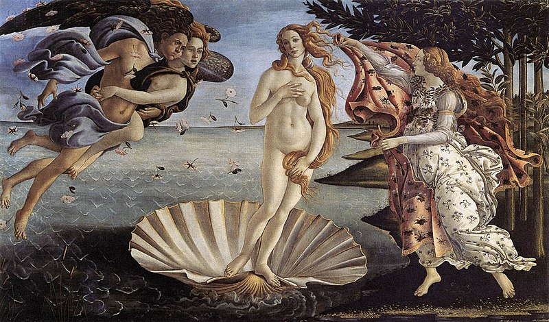 The Birth of Venus - Sandro Boticcelli provided by Wikipedia Commons