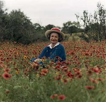Portrait of Lady Bird Johnson in the Texas Hil...