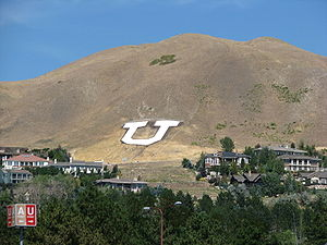 Mount Van Cott, Home of the University of Utah...