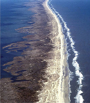 Barrier island in the Outer Banks, North Carolina.
