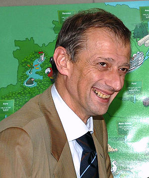 Piero Fassino, Italian politician during visit...