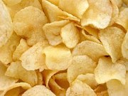 English: A pile of potato chips. These are Utz...