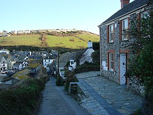 English: Roscarrock Hill, Port Isaac The first...