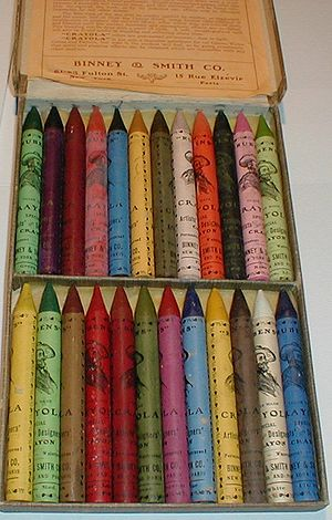 Rubens Crayola No 500 - Inside box with crayon...