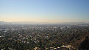 A view of the San Fernando Valley in Los Angel...
