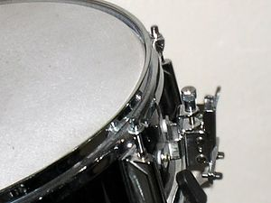 This picture was taken on a snare drum.