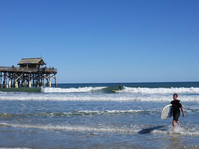 Surfing at the Cocoa Beach Pier (Cocoa Beach, Florida) 003