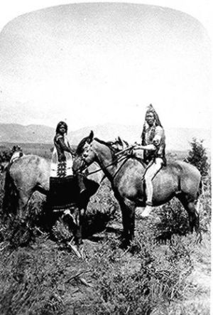 Uintah Ute couple, northwestern Utah, 1874