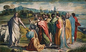 Christ's Charge to Peter by Raphael, 1515. In ...