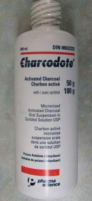 A bottle of 50gms activated charcoal with 180g...