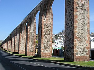 English: Aqueduct of Queretaro City, State of ...